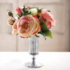 Jane Seymour Pink Rose and Peony 10 in. Silk Flower Arrangement