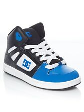 DC Black-Blue-White Rebound Kids Hi Top Shoe