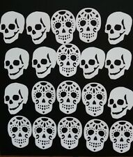20 Skull Shaped Die Cuts - Skull & Sugar Skull -  good quality glossed card used