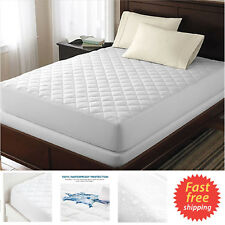 Bed Top Dust Mite Allergy Relief Waterproof Quilted Mattress Cover Protector FS