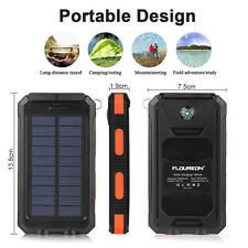 Solar Power Bank 10000mAh Solar Charger External Battery Charger Solar Panel US