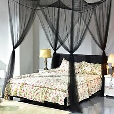 Bed Canopy Mosquito Net Netting Bedding 4 Corner Post Full Queen King Size