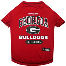 Georgia Bulldogs Pets First Officially Licensed NCAA Dog Pet Tee Shirt, Red