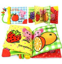 ZXZ Baby Toys Baby Crib bumper Baby Cloth Book Rattles Knowledge Around Multi To