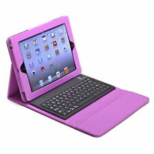 Bluetooth Keyboard Case Stand Folio Leather Cover For Apple iPad Air 5th Purple