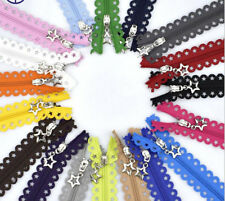 19 Colors 25 CM Zippers For Purse or Bags Manufacture Stars Lace Zippers