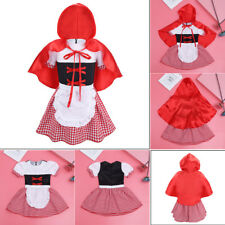 Girls Little Red Riding Hood Fancy Dress Kids Baby Party Birthday Costume Outfit