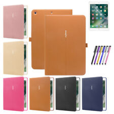 Leather Flip Smart Cover Case  For Apple iPad Air 1 2 Mini 2 3 4 New ipad Pro