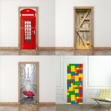 3D Door Wall Mural Stickers Self-adhesive Vinyl Removable Art Door Decals