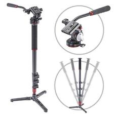 NEW 3POD ORBIT 4 SECTION CARBON FIBER PHOTO/VIDEO MONOPOD WITH FLUID BASE AND...