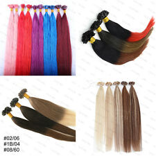 7A 1g Glue Nail U Tip Pre-Bonded Keratin Ombre Remy Human Hair Extensions Thick