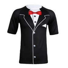 3D Print Boetie Short Sleeves Mens Top Tee Tuxedo Formal Suit Funny Top T-Shirt