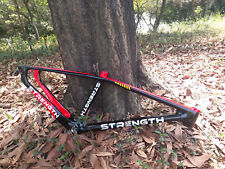 Mountain bike frame 27.5ER carbon fiber bicycle frame red and black strength