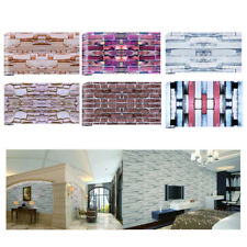 Adhesive 3D Wall Paper Brick Stone Effect Wall Sticker Decal for Room Decor