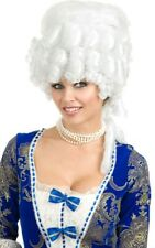 COLONIAL MAIDEN ADULT WIG WHITE RENAISSANCE MARIE ANTOINETTE DRESS UP ACCESSORY