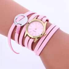 Fashion Women's Watch Leather Bracelet Weaving Lady Sport Casual Wrist girls
