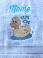 Personalized Monogrammed Hand or Bath or Hooded Towel, BATH TIME DUCK *Gift Idea