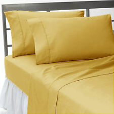 Scala Bedding 1000 TC Egyptian Cotton Duvet Collection Select Size & Item-Gold