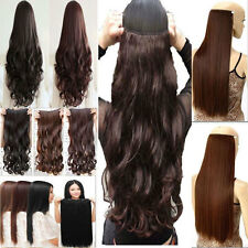 Mega Thick One Piece Clip In Hair Extensions Straight Curly Wavy For Human ncw85