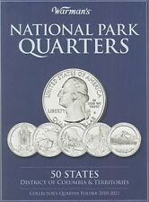 National Park Quarters Collector's Quarter Folder 2010-2021: 50 States, District