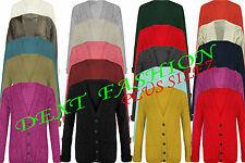 WOMENS CARDIGAN LADIES CHUNKY JACQUARD CABLE KNITTED BOYFRIEND JUMPERS CARDIGAN