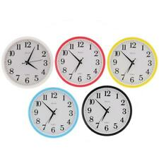 """Black Wall Clock, Quartz Battery Operated 12""""inch Round Home/Office/School Clock"""