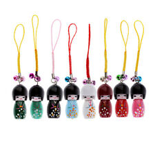 4cm Wooden Japanese Doll Model Pendant Creative Gift for Bag Decor Ornaments