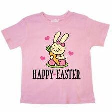 Inktastic Easter Bunny Girls Toddler T-Shirt Happy Rabbit Childs Cute Babys 1st