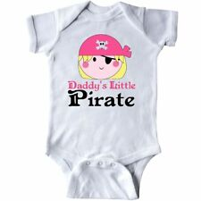 Inktastic Pirate Girl Daddys Little Infant Creeper Cute Pink Skull And Funny Hws
