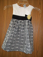 Blueberi Boulevard Girls Size 4T Black White Gingham Dress New With Tags