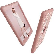 Apple Ipad 9.7 Case 2018 Silicone Rubber Hard Shell Hybrid Protective Cover Pink