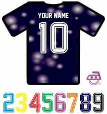 Iron On Transfer Sports Supreme Football Soccer Numbers Letters Jersey PU Vinyl