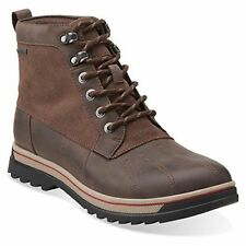 Clarks Mens Ripway Trail  GTX Brown Leather Ankle Snow Boots UK Size 6.5G