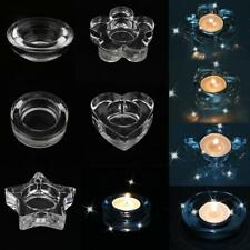 Pack 4 Glass Candle Holder Candlestick Tealight Wedding Home Table Decor