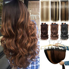 US One Piece Clip in As Human Hair Extensions Extension Thick 18/24/26/27/30Long