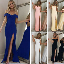 Women's Off Shoulder Casual Long Maxi Evening Party Cocktail Beach Dress