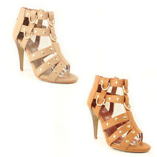 WOMENS GLADIATORS HIGH STILETTO HEEL ANKLE SANDALS LADIES SHOES NEW SIZE 3-8