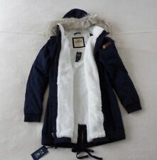 Womens Hollister by Abercrombie&Fitch Water Resistant Parka Hoodie Coat Jacket L