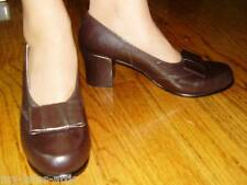 WWII USMCWR 1940 Women Bow Leather Pump Shoes Dark Brown