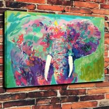 HD Print Multi-colors Elephant Modern Art Home Wall Deco Oil Painting on Canvas
