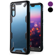 For Huawei P20 | Ringke [FUSION-X] Shockproof Clear PC Back TPU Armor Case Cover