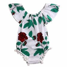 Clothing Cotton Sunsuit Jumpsuit Baby Girl Clothes Short Sleeves Floral Romper