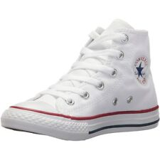Converse Chuck Taylor All Star Hi Optical White Textile Junior Trainers