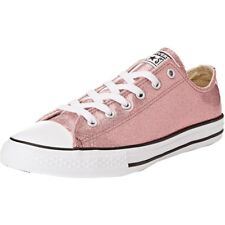 Converse Chuck Taylor All Star Glitter Ox Rose Gold Synthetic Youth Trainers