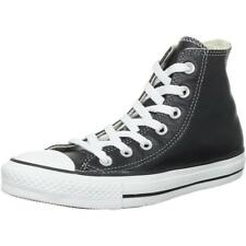 Converse Chuck Taylor All Star Hi Black Leather Adult Trainers