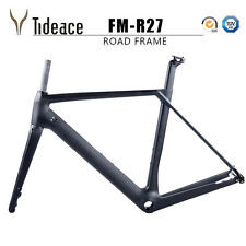 Road Bike Frame+Fork+Clamp+Seatpost Aero Carbon T800 Road Frames with Thru Axle