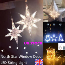 Star LED String Fairy Lights Battery Window amp Christmas Xmas Party Home Décor