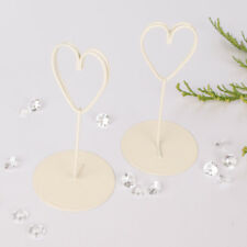Cream Wedding Table Number Name Place Card Holders Stands Love Heart Decoration