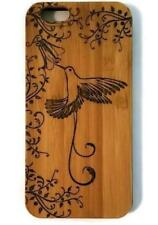 Hummingbird & Flower bamboo wood iPhone case iPhone 6, iPhone 6s, iPhone 6 plus,