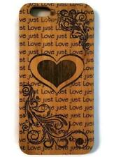 Heart bamboo wood case for iPhone 6, iPhone 6s, iPhone 6 plus, iPhone 7, iPhone